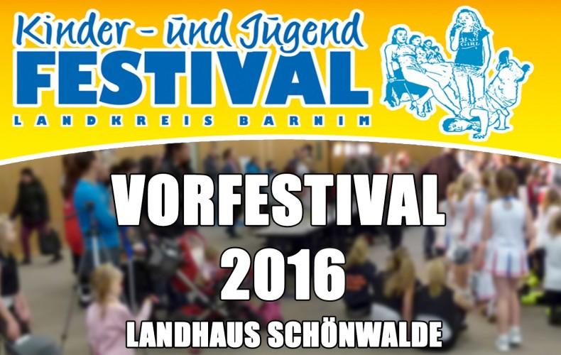 Vorfestival Schönwalde am 19.11.2016 – Barnimer Kinder- und Jugendfestival