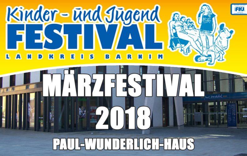 Märzfestival Eberswalde am 10.03.2018