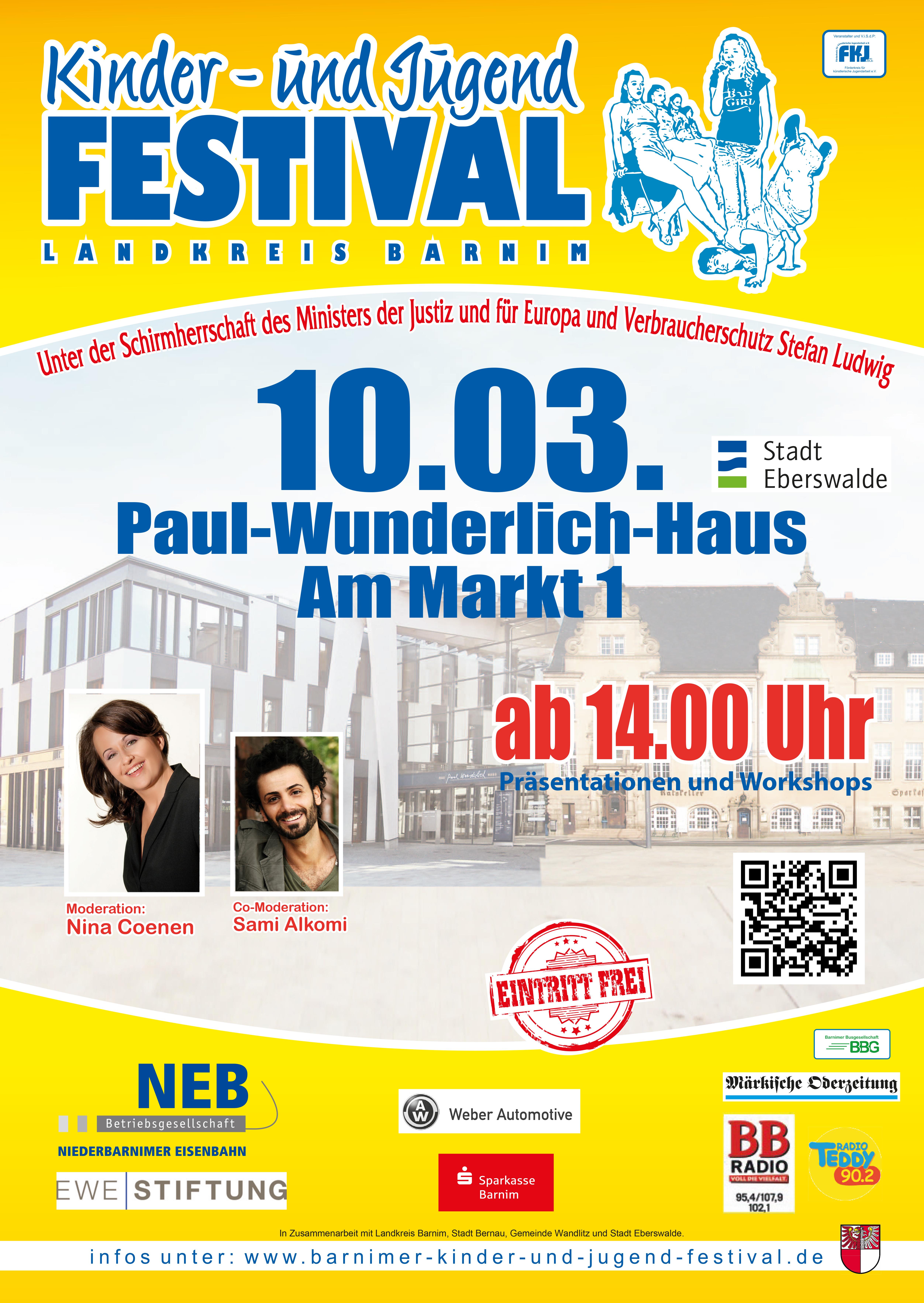 Plakat Vorfestival Eberswalde 2018